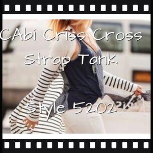 CAbi Cross Cross Strap Tank, Navy M #5202